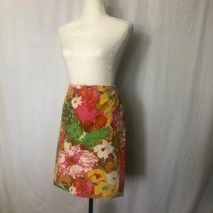 Talbots Spring/Summer Floral skirt Size 4P